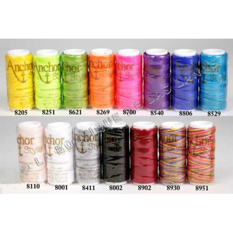 ANCHOR STYLE NYLON THREAD carta de colores